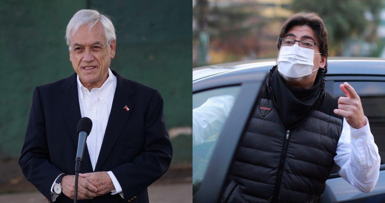 Piñera y Jadue se enviaron recados por la prensa tras votar en la segunda vuelta de gobernadores regionales. AGENCIA UNO