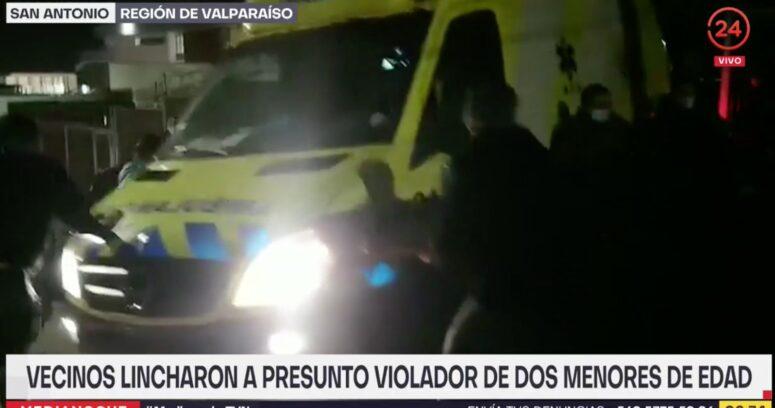 """""""Linchan a hombre acusado de abusar sexualmente de dos menores en San Antonio"""""""