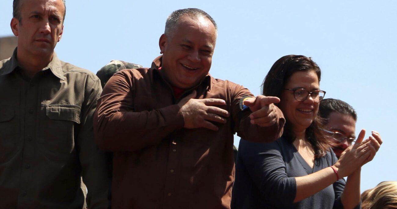 """""""Sinvergüenzas la exponían diciendo 'miren Cuba como está' y el presidente, el mismo presidente se fue a las calles en Cuba"""", agregó Diosdado Cabello. AGENCIA UNO/ARCHIVO"""