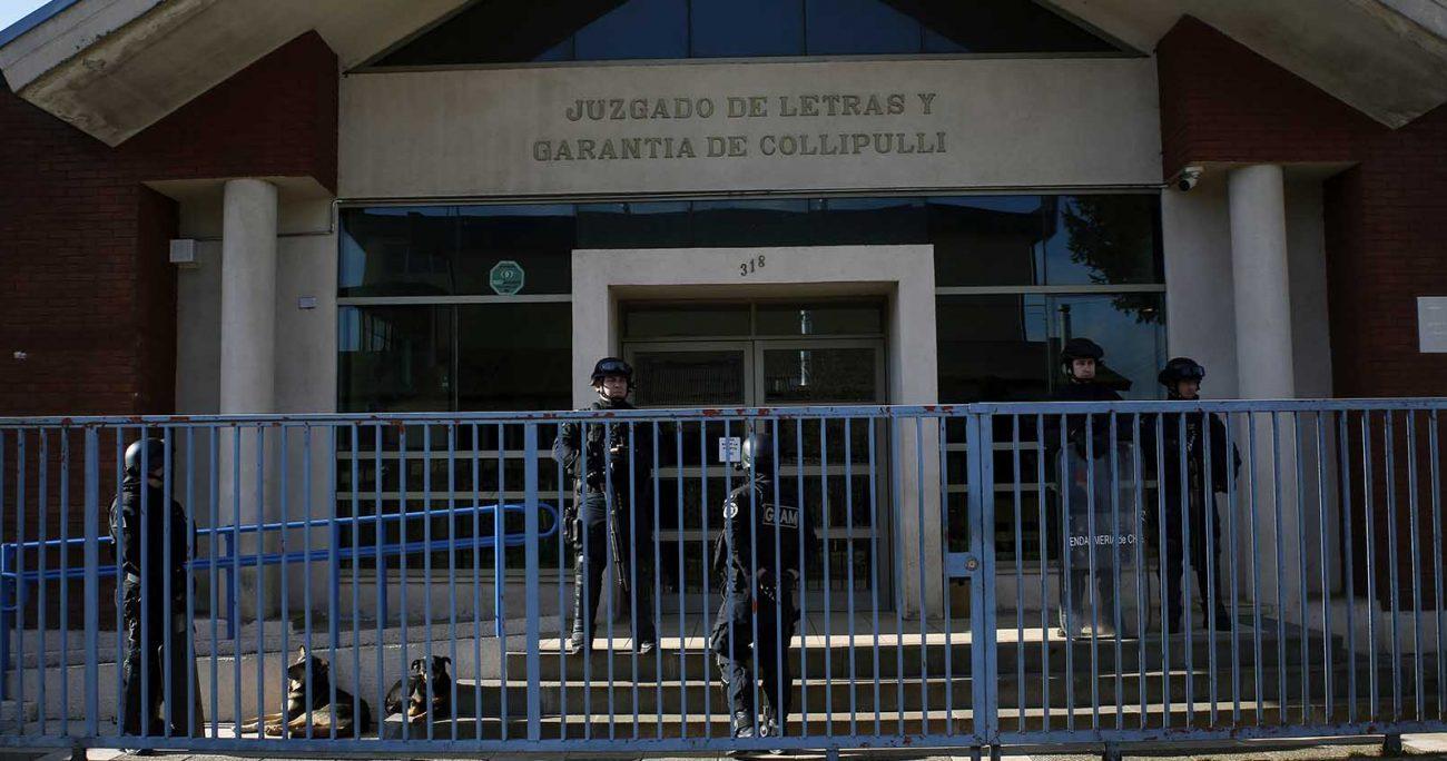 El Juzgado de Garantía de Collipulli determinó que Jorge Huenchullán deberá cumplir la prisión preventiva en la cárcel de Angol por un plazo de 45 días, tiempo que se determinó para el desarrollo de la indagatoria. AGENCIA UNO/ARCHIVO