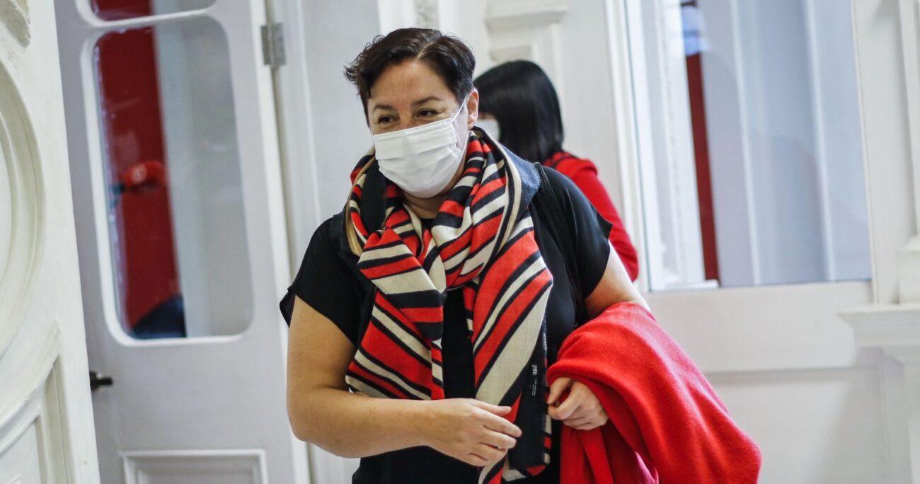 Sánchez durante la primera jornada de labor de la Convención. AGENCIA UNO