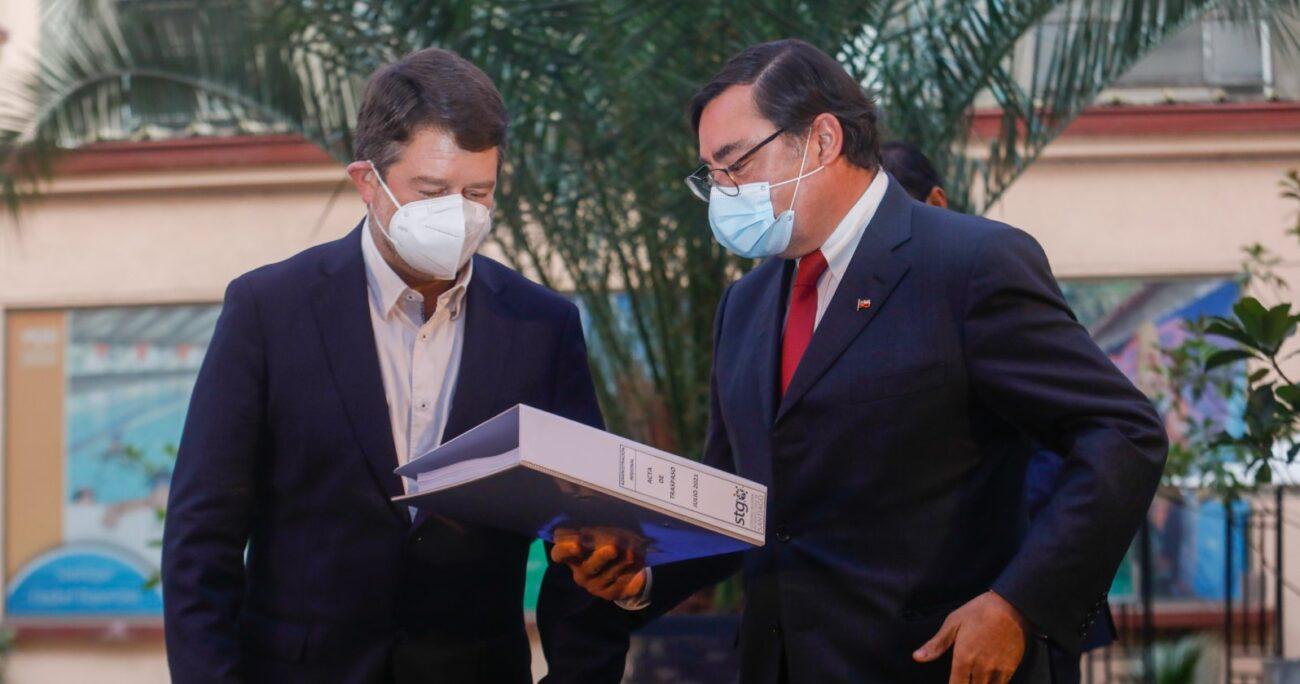 Orrego anunció que avanzará en impulsar la modernización del eje Alameda. AGENCIA UNO