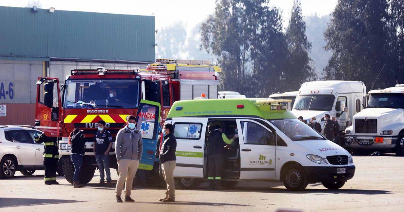 Tres fallecidos por intoxicación deja accidente laboral en barrio industrial de Concón