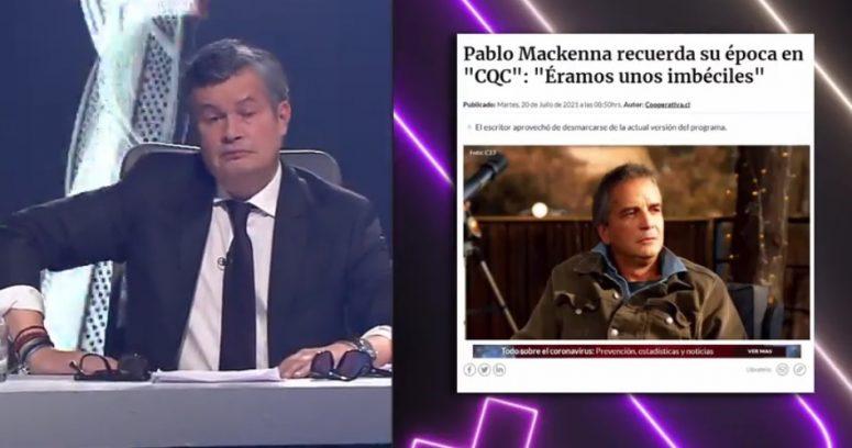 """""""Hueón mala leche"""": conductores de CQC las emprenden contra Pablo Mackenna"""