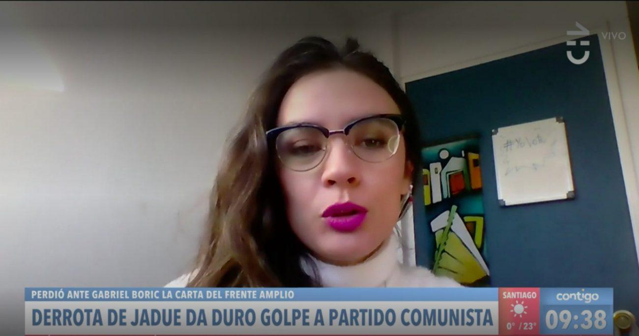 La diputada del PC analizó la derrota de Jadue en Contigo en la Mañana de Chilevisión.