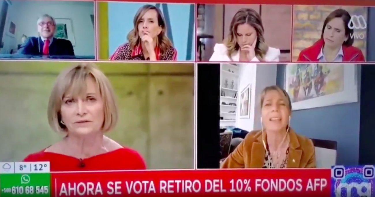 Ante la caída histórica del Fondo E, la senadora Ximena Rincón también pidió reunirse con Sebastián Piñera. CAPTURA