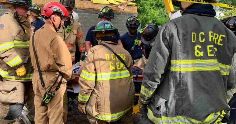 """""""Derrumbede un edificio en Washington dejó cinco personas atrapadas"""""""