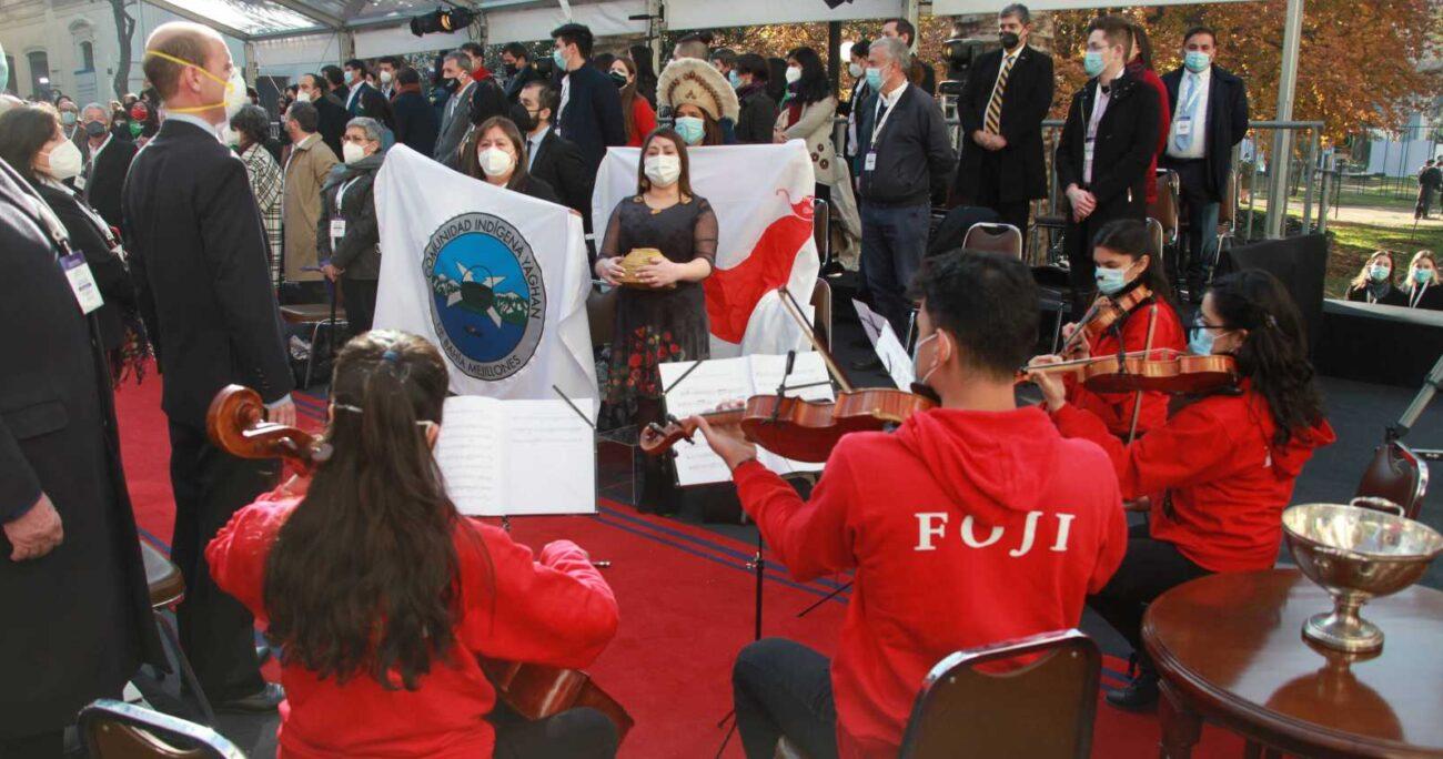 La orquesta durante el inicio de la ceremonia. CHILE CONVENCIÓN