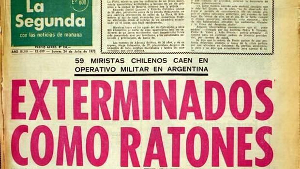 """""""Exterminados como ratones"""": familiares de víctimas recurren a CIDH por titular de La Segunda"""