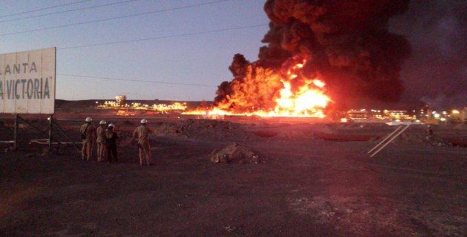 """""""Tarapacá: incendio afecta a planta de SQM en Pozo Almonte"""""""