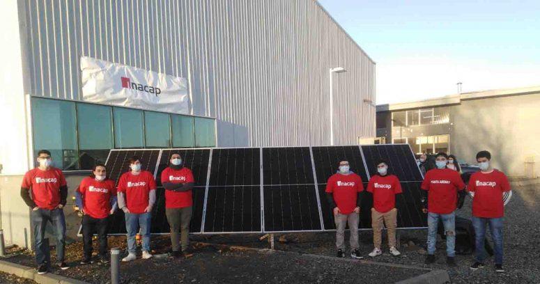 Inacap instala en sede de Punta Arenas el primer sistema fotovoltaico con fines educativos del país