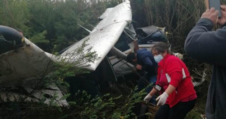 """""""Avioneta con cuatro tripulantes se accidentó en trayecto de Isla Mocha a Tirúa"""""""
