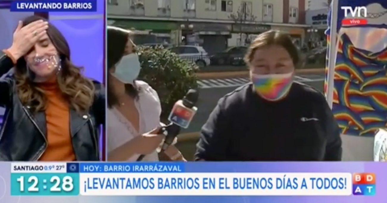 El hecho ocurrió en medio de un despacho que realizó la periodista Ana María Silva.