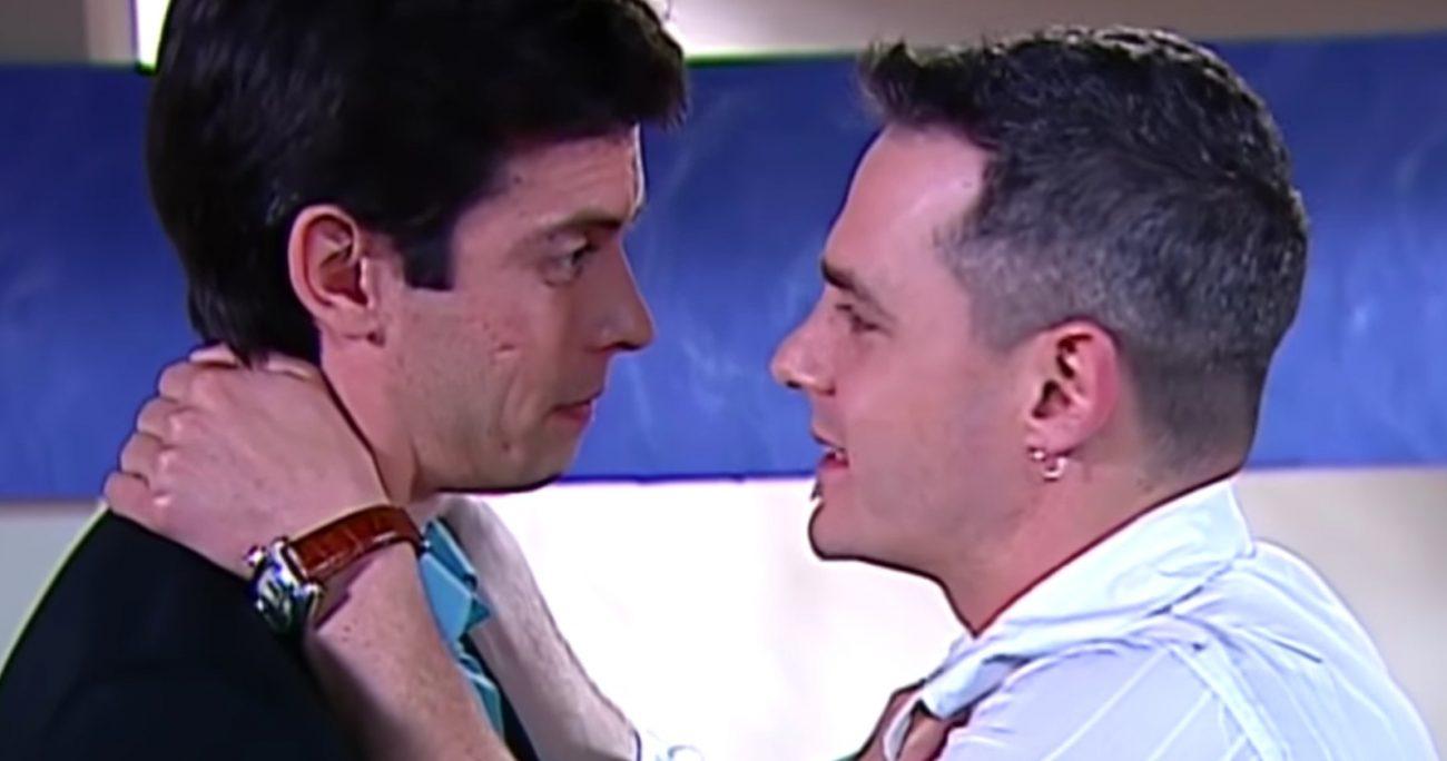Ricardo Fernández y Néstor Cantillana interpretaron a una de las primeras parejas homosexuales en horario vespertino.