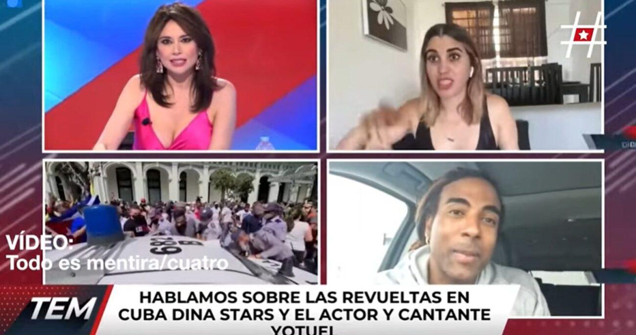 La influencer al momento de su detención. CAPTURA DE PANTALLA