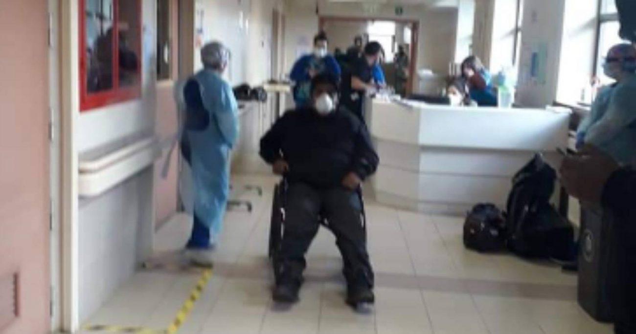Durante su detención se produjeron incidentes entre personal policial y la familia de Jorge Huenchullán Cayul, quienes se opusieron al arresto del wekén. CAPTURA