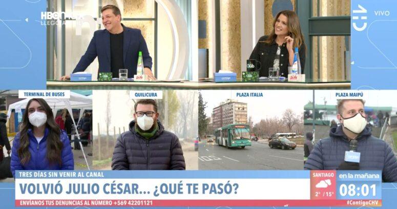 """""""Julio César Rodríguez regresó al matinal de Chilevisión y confirmó motivo de su ausencia"""""""