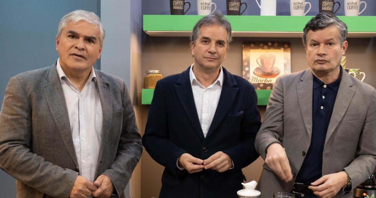 Pablo Mackenna, Felipe Bianchi y Nicolás Larraín se reúnen por primera vez después de CQC. VIA X