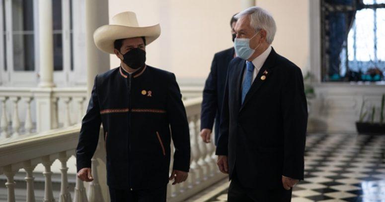 """Piñera sostiene reunión bilateral con Presidente electo de Perú: """"Tenemos un futuro a construir juntos"""""""