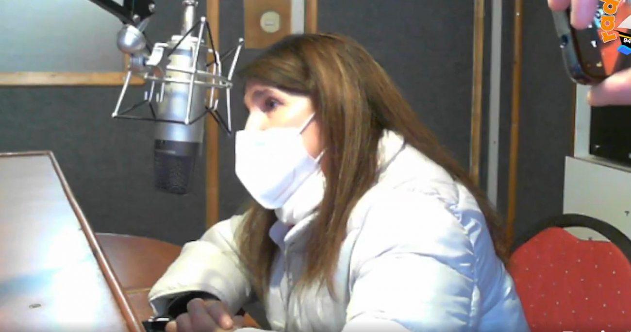 La abanderada socialista durante la entrevista. CAPTURA DE PANTALLA