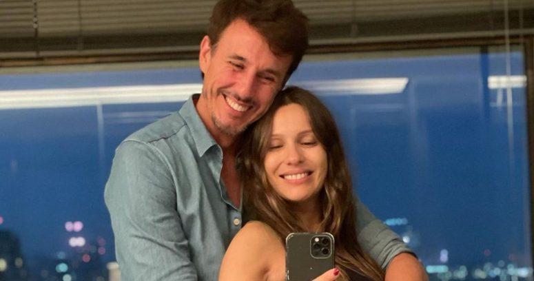 """Revelan las primeras imágenes de la hija de Pampita y Roberto García Moritán: """"Estamos en las nubes"""""""