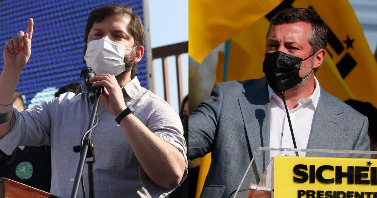 Especialistas confirmaron que pese a competir con la centroizquierda en noviembre, Boric y Sichel gozan de una gran ventaja. AGENCIA UNO/ARCHIVO