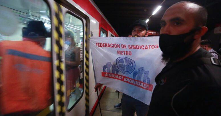 """""""Protesta de trabajadores de Metro obliga a cerrar estaciones de la Línea 1"""""""