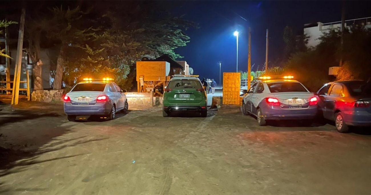 De acuerdo a la información entregada por Carabineros, el hecho ocurrió a las 21.45 horas y no se registraron personas detenidas ni tampoco rastros de bebidas alcohólicas en el lugar. MUNICIPALIDAD DE ZAPALLAR