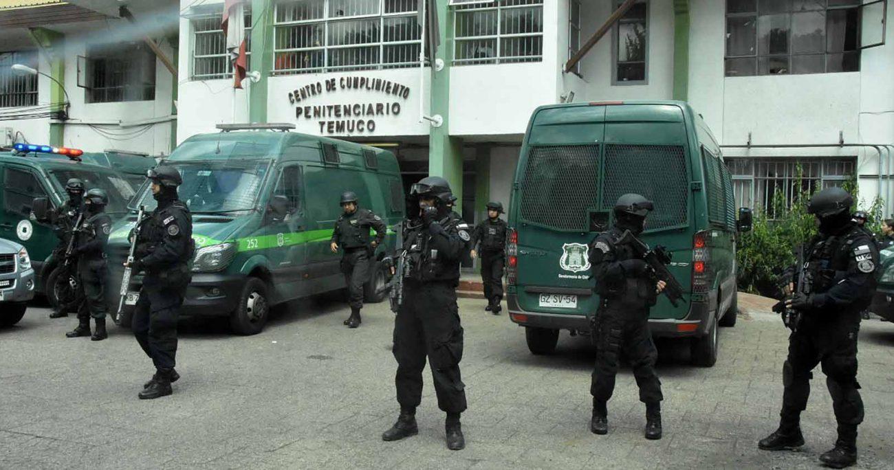 Jorge Huenchullán tenía 24 horas para presentarse a la cárcel de Temuco para iniciar su prisión preventiva, pero nunca llegó al recinto. AGENCIA UNO/ARCHIVO