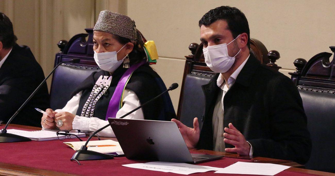 Para los constituyentes de Chile Vamos, Elisa Loncon evitó realizar una condena explícita de la violencia en La Araucanía. AGENCIA UNO/ARCHIVO