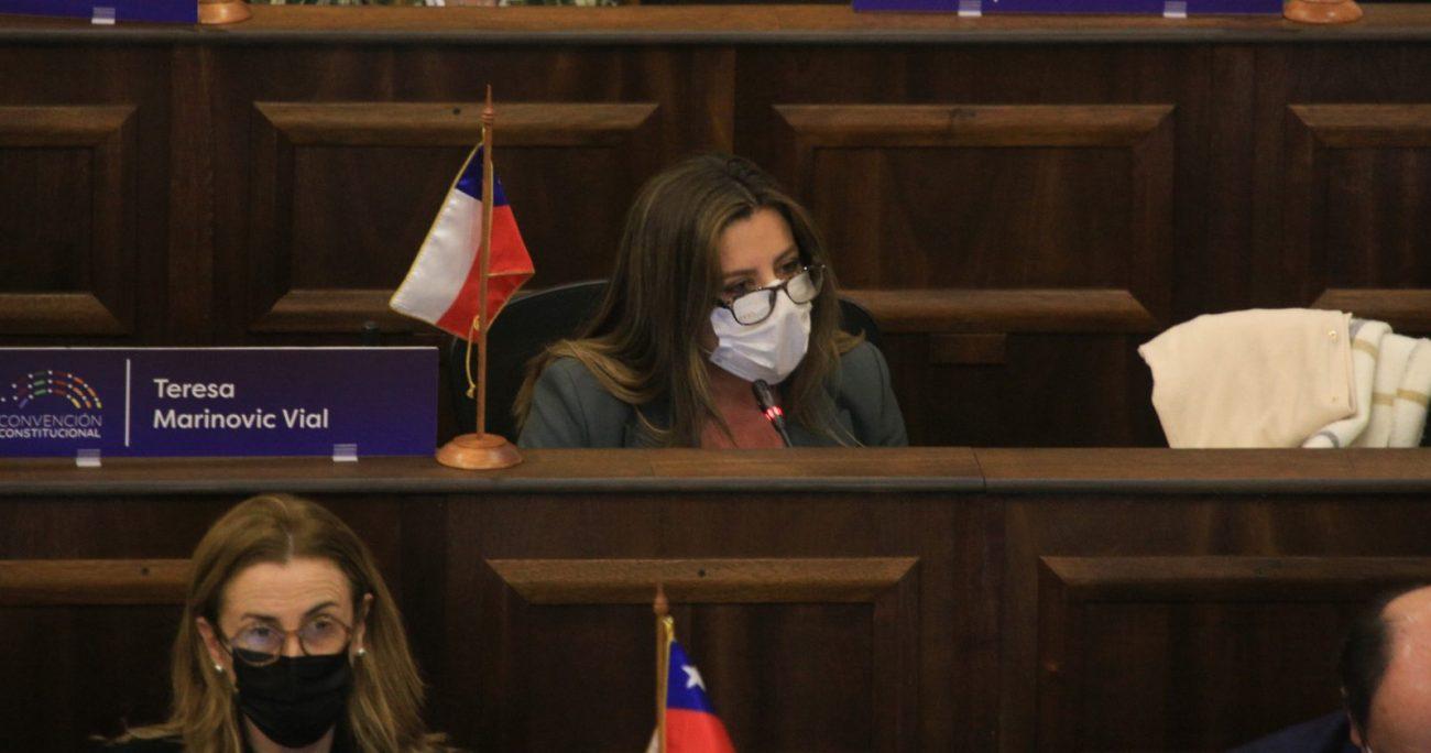 Marinovic durante su intervención en la sala. AGENCIA UNO