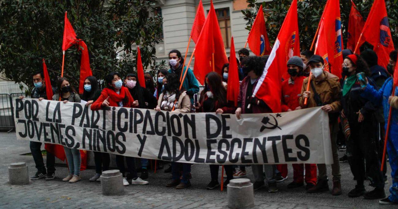 La manifestación de las Juventudes Comunistas. AGENCIA UNO