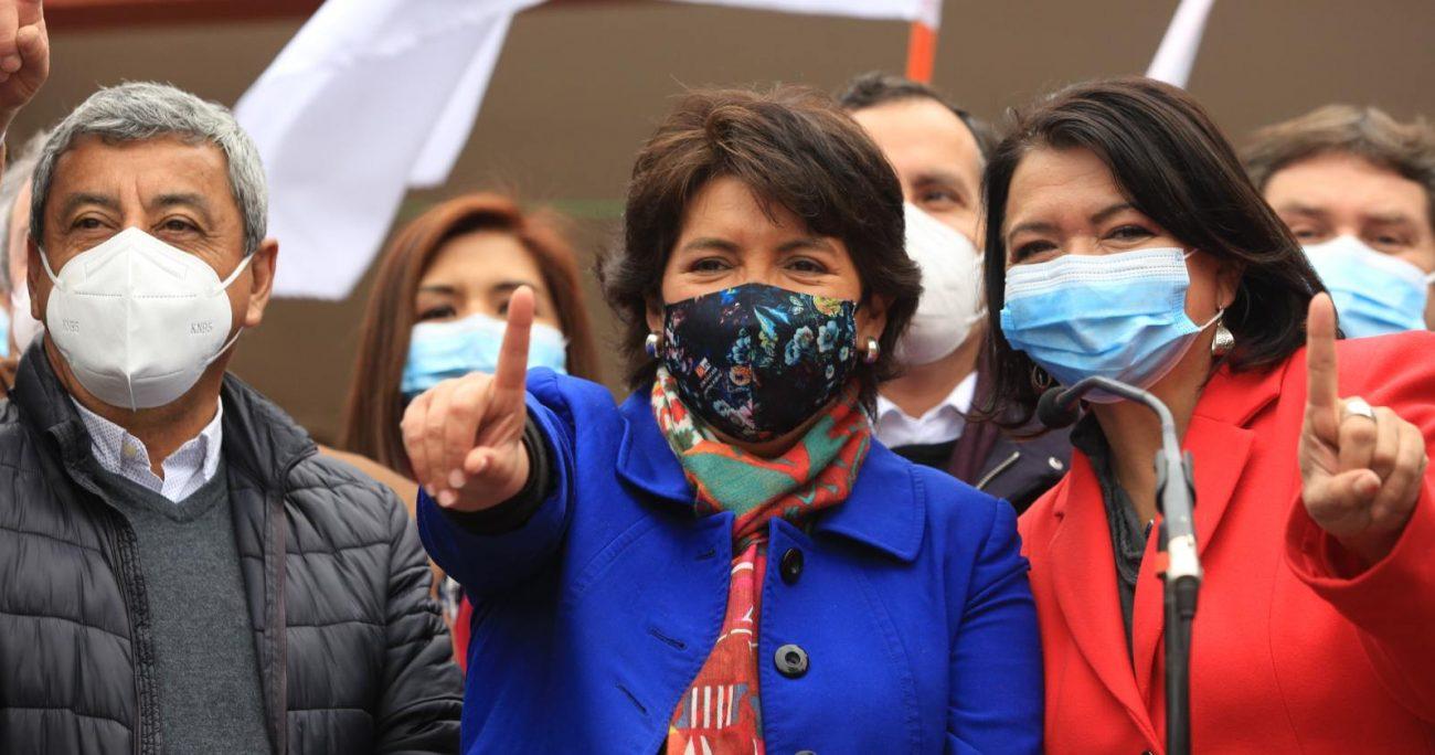 """""""Yo los convoco a redoblar los esfuerzos y que el próximo sábado nuestra camarada Yasna Provoste Campillay se transforme en la candidata de la centro izquierda"""", planteó Carmen Frei. AGENCIA UNO/ARCHIVO"""
