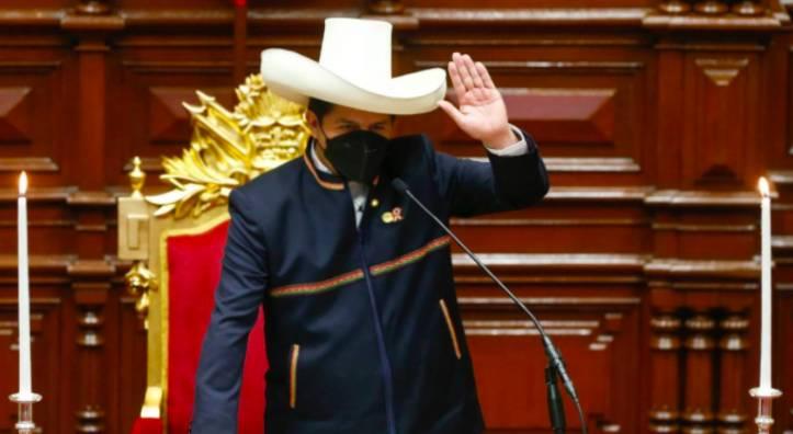 Pedro Castillo asumió la Presidencia de Perú el 28 de julio. TWITTER/PRESIDENCIAPERU