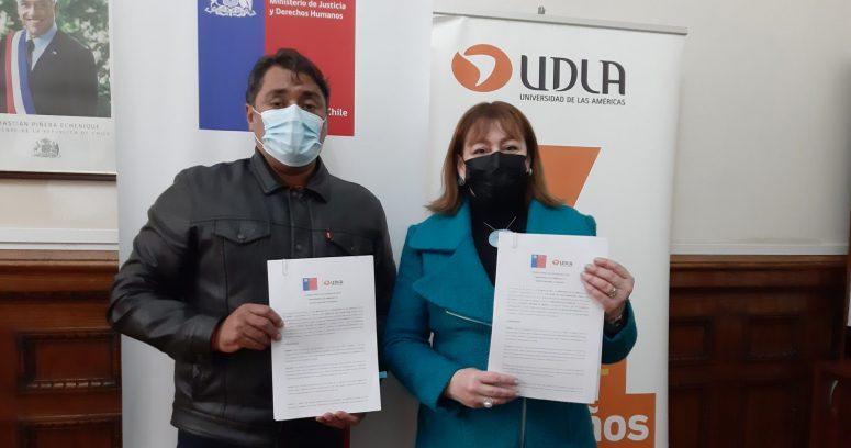 """UDLA firma convenio de colaboración con Sename de Valparaíso"""