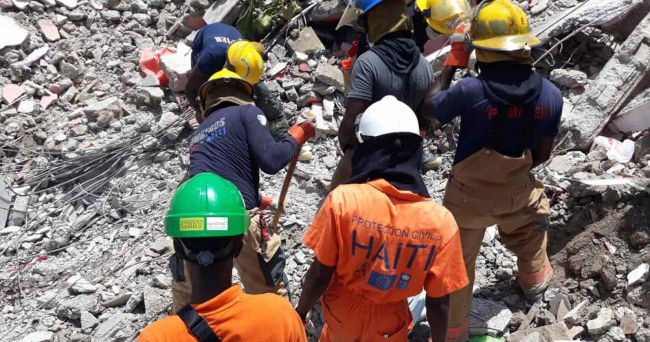 La Protección Civil indicó que el número de viviendas destruidas asciende a 52.953. TWITTER/PROTECCIONCIVILHAITI