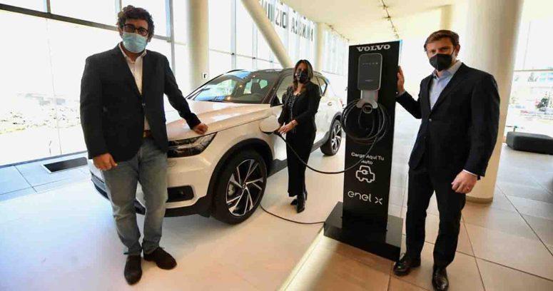 """""""Volvo Cars y Enel X instalaran 50 puntos de carga dobles para autos eléctricos de uso público en Chile"""""""