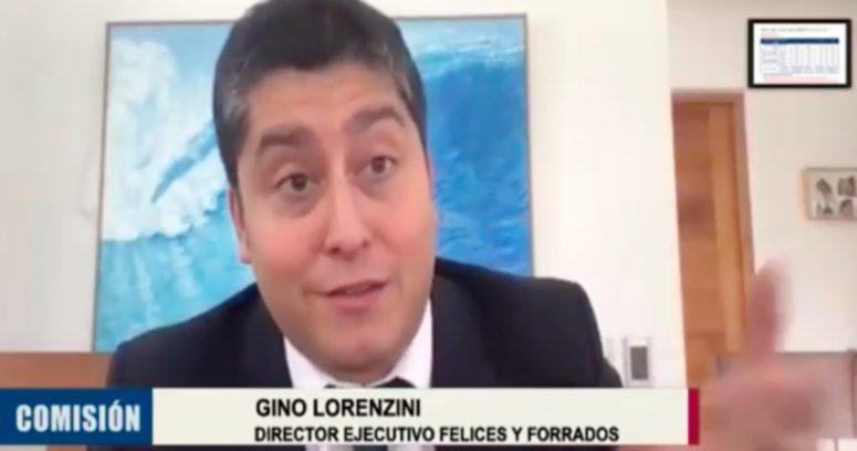 """""""Gino Lorenzini llega al Congreso y acusa"""