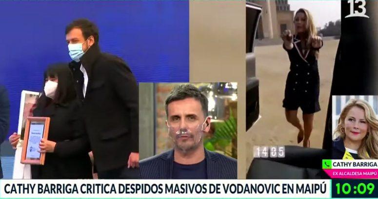 """""""¡Pero qué educado!"""": la tensa discusión de Sergio Lagos y Cathy Barriga en Bienvenidos"""