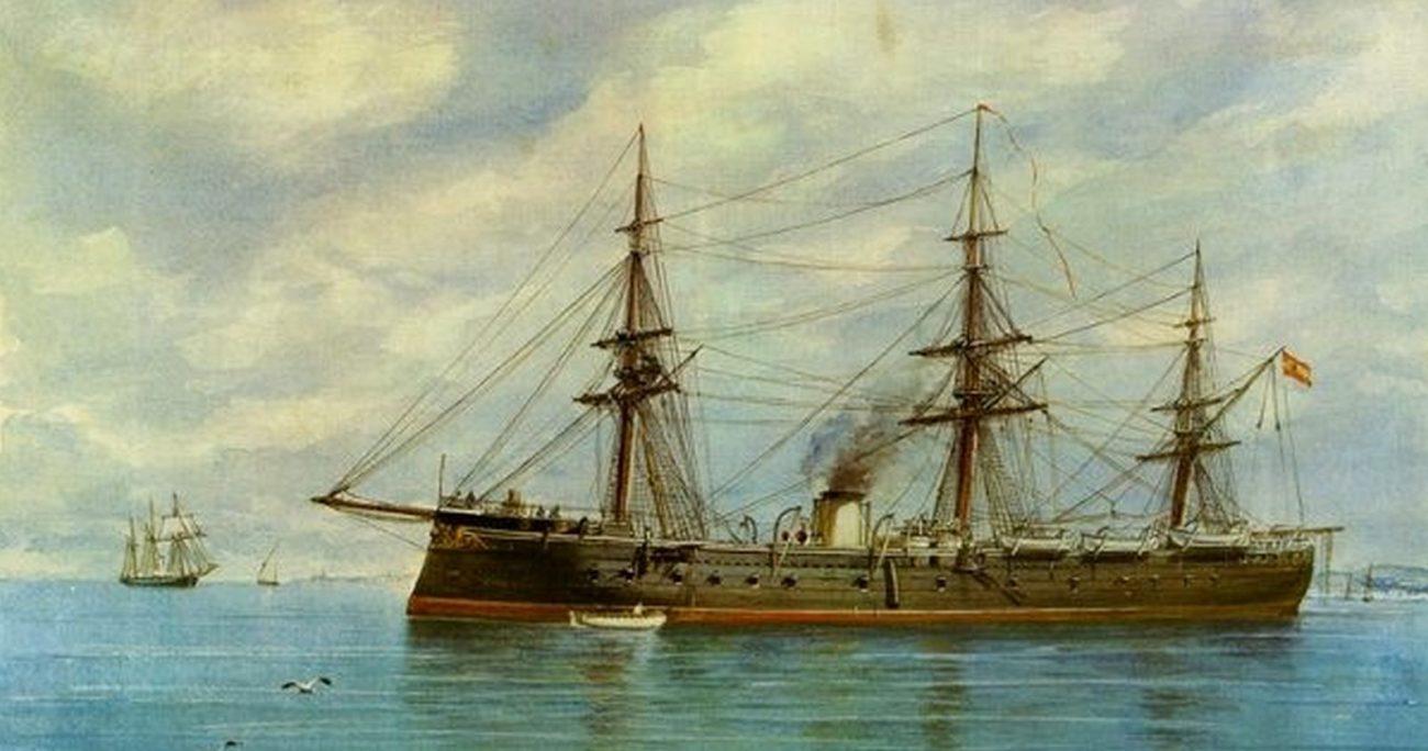 La embarcación lleva 141 años hundida en la costa de Chancay. ARMADA DE CHILE/ARCHIVO