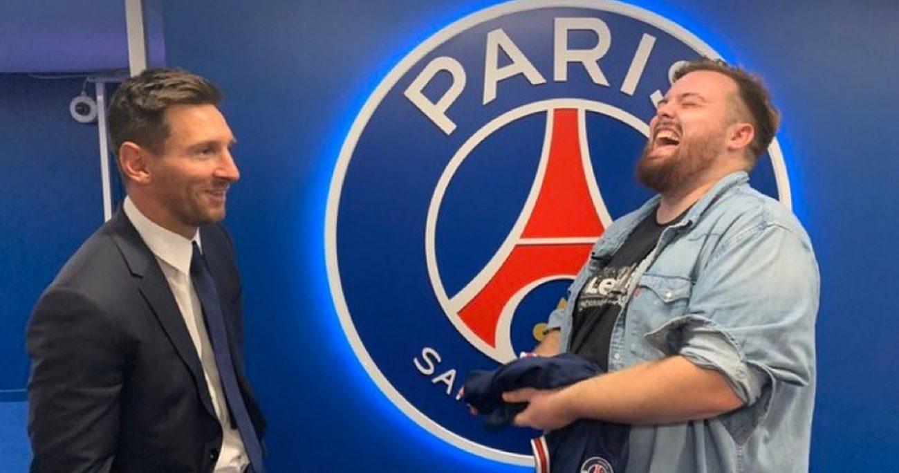 El youtuber junto con el jugador argentino. INSTAGRAM/@IBAILLANOS