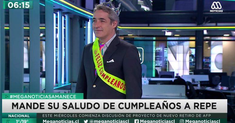 """""""José Luis Repenning celebró su cumpleaños durante la edición de Meganoticias"""""""