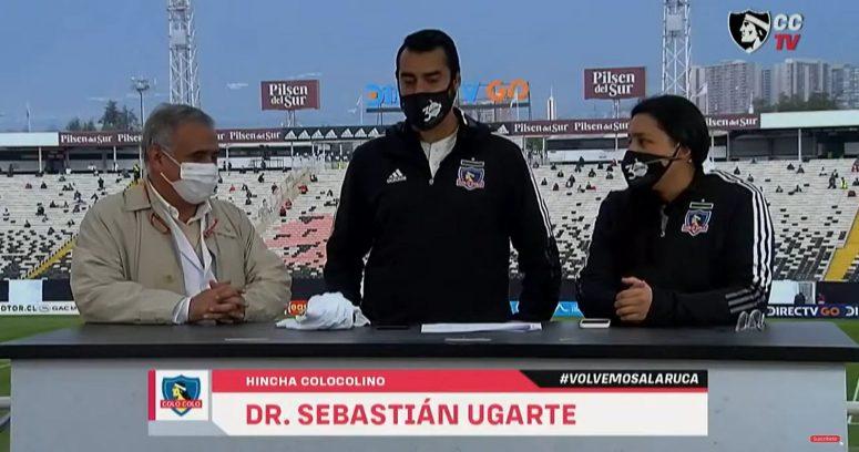 """""""Doctor Ugarte llegó al Estadio Monumental para el primer partido con público de Colo Colo"""""""