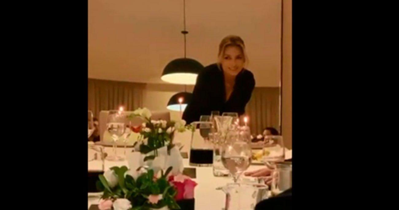 Uno de los videos muestra a la esposa de Fernández cuando sopla las velas de su torta.