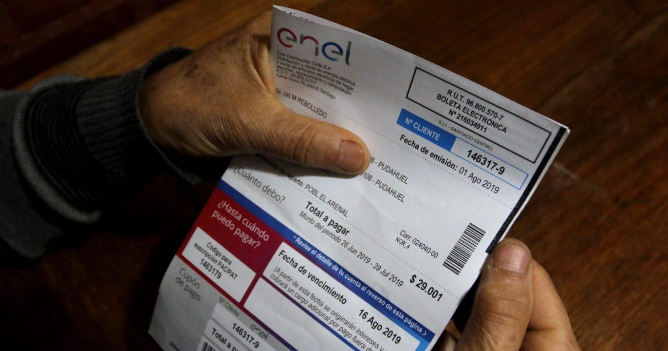 La aplicación de las reglas de la ley sin distinción alguna por la capacidad de pago de los clientes vulnera la garantía constitucional de igualdad ante la ley, aduce Enel. AGENCIA UNO/ARCHIVO