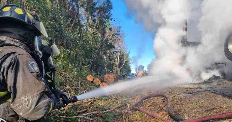 """""""Tres trabajadores heridos dejó ataque incendiario en Carahue"""""""