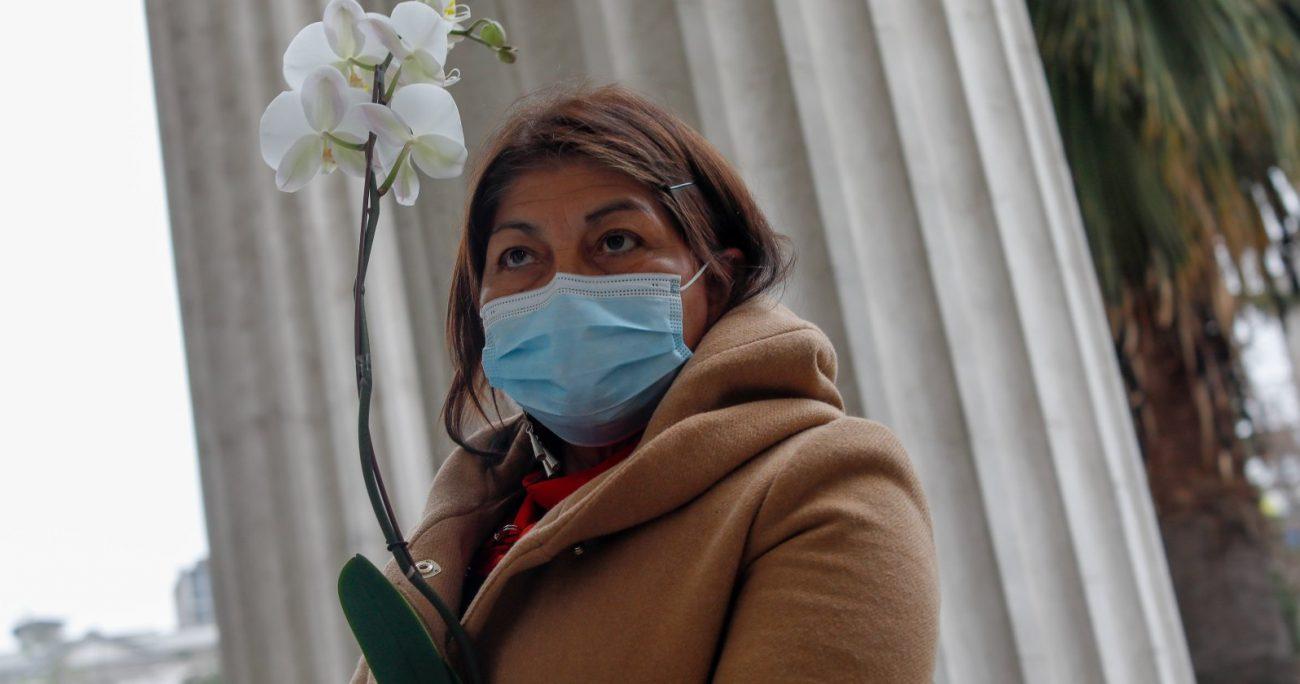 La representante mapuche anunció que Tania Madriaga asumirá la vicepresidencia dejada por Rojas Vade. AGENCIA UNO
