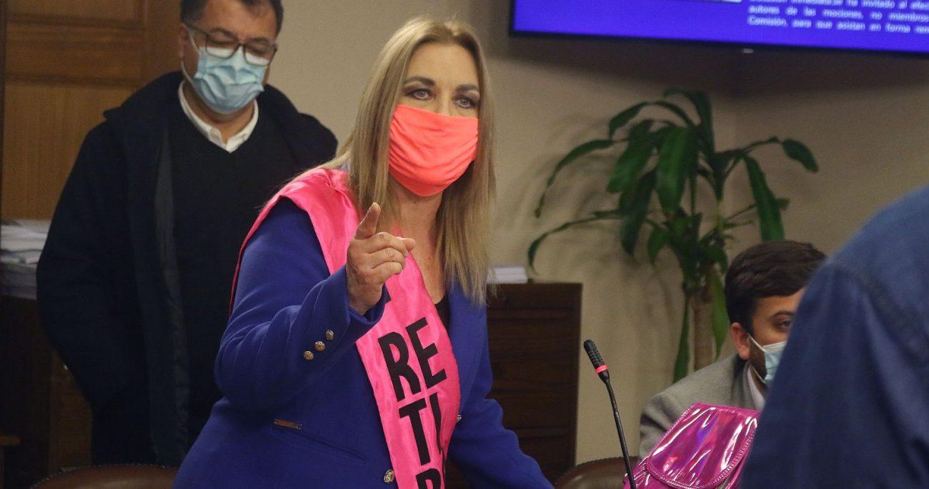 La congresista agradeció a Apruebo Dignidad y a su representante Karol Cariola quien anunció que no presentarán indicaciones en la sesión de la Sala. AGENCIA UNO