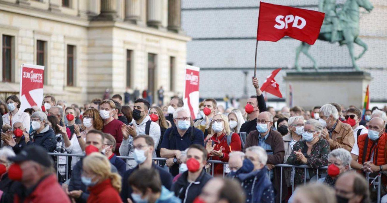 El partido liderado por Olaf Scholzobtuvo un 5,2% más que en las elecciones de 2017. TWITTER/SCHOLZ