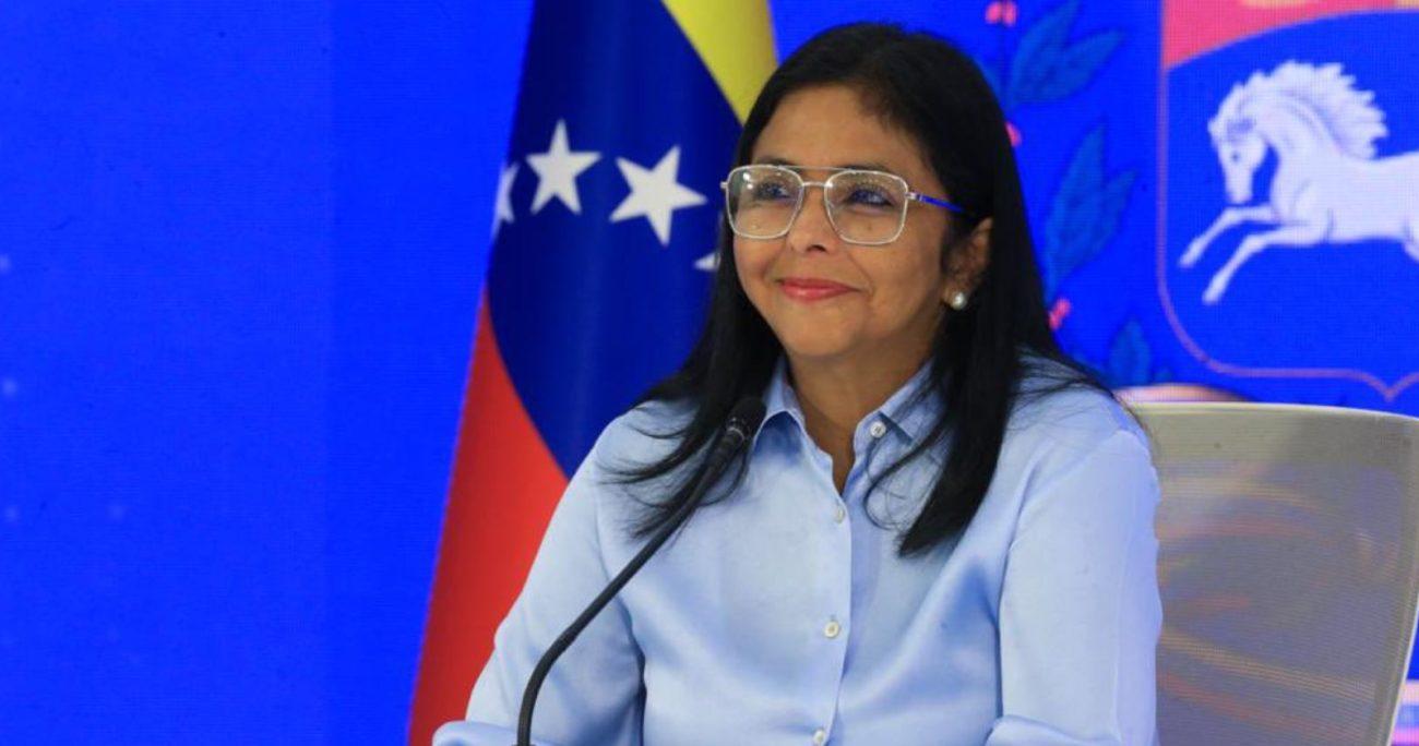 """""""Ha quedado comprobado el terrorismo cibernético"""", dijo la vicepresidenta ejecutiva de Venezuela. TWITTER/DELCYRODRIGUEZ"""
